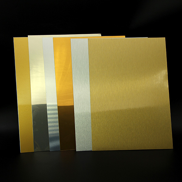 Brushed Gold/Silver Sublimation Aluminum Sheet